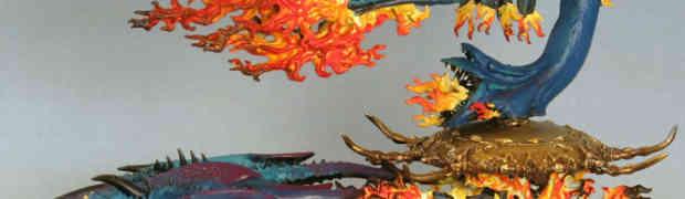 Tzeentch Chariot and Tzeentch Demons