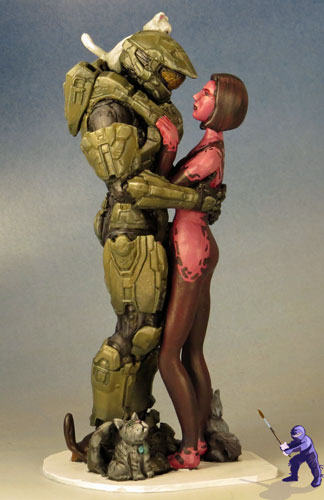 Halo Master Chief Wedding Cake Topper