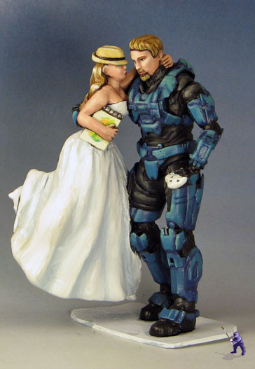 Master Chief and Bride Cake Topper