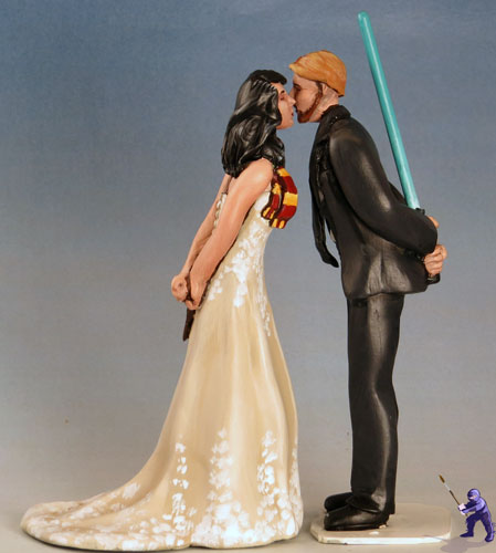 Geek Wedding Cake Toppers Garden Ninja Studios