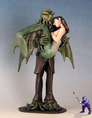 Cthulhu and Mermaid Wedding Cake Topper