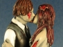 Dancing and Kissing Zombie Cake Toppers