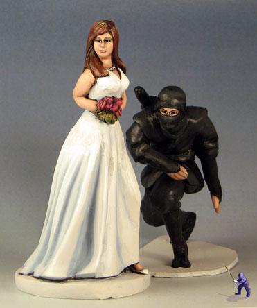 Ninja Wedding Cake Toppers