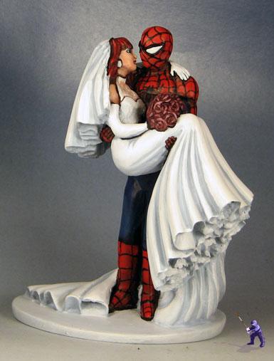 Super Hero Wedding Cake Topper Garden Ninja Studios