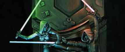 Dueling Jedi Diorama