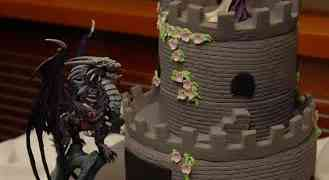 Dragon Slaying Cake Topper in Action