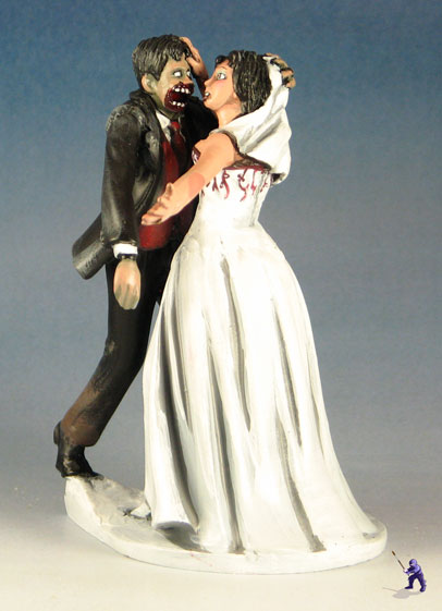 Zombie Eating The Bride Cake Topper