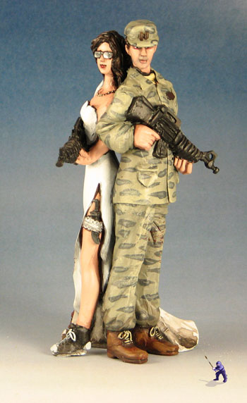 Military Groom Handmade Pesonalised Wedding Cake Topper More Toppers To Battle The Zombie Horde