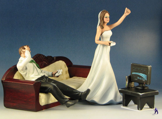 video game wedding cake toppers a grey eyed wedding toppers from gardenninja 21592