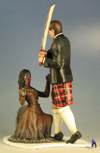 Zombie Fighting Wedding Cake Topper