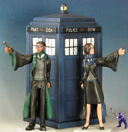 Doctor Who T A R D I S Wedding Cake Topper