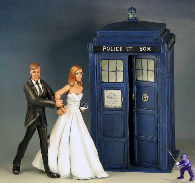 Tardis Wedding Cake Topper