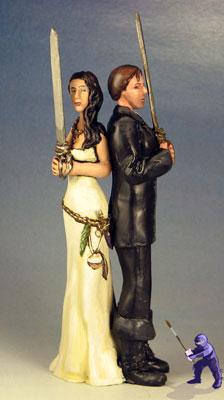 Wedding Cake Toppers With Swords Garden Ninja Studios