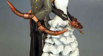 Steampunk Cake Topper Couple