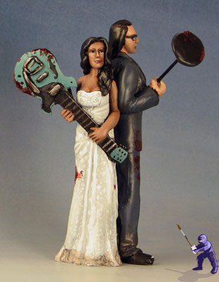 Zombie Wedding Cake Toppers- Improvised Weaponry