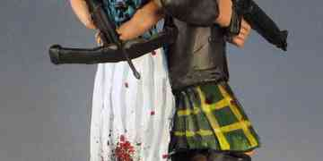 Bows and Crossbows for Zombie Survivor Wedding Cake Toppers