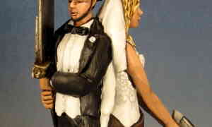 His and Her Fandom Wedding Cake Toppers