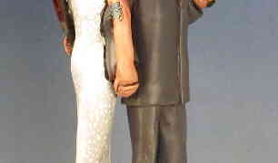 Traditional Zombie Survivor Wedding Cake Toppers